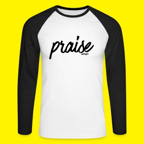 Praise (BLACK) - Men's Long Sleeve Baseball T-Shirt