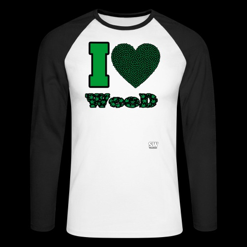 I Love weed - T-shirt baseball manches longues Homme