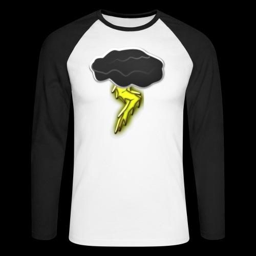 Blitzschlag - Männer Baseballshirt langarm