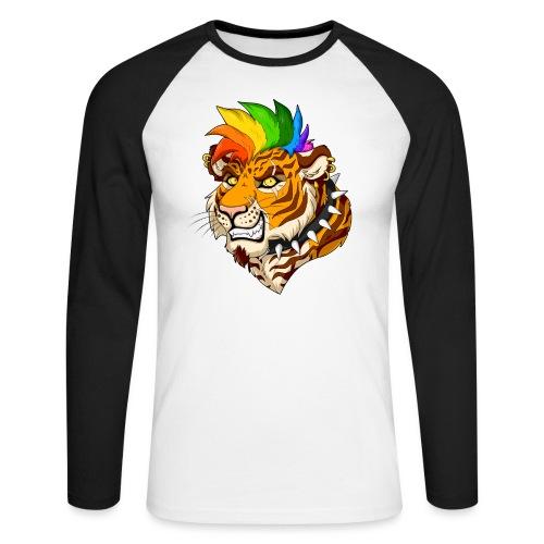 Punk Tiger - Koszulka męska bejsbolowa z długim rękawem