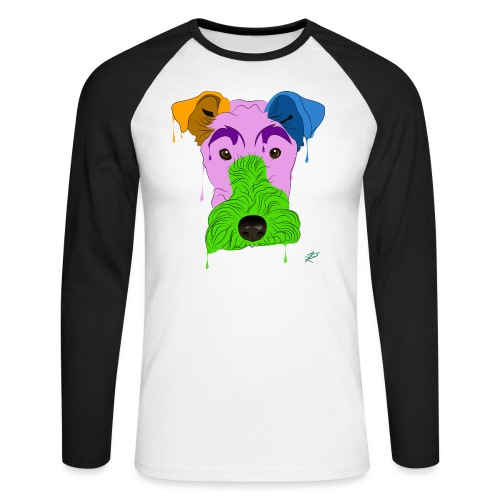 Fox Terrier - Maglia da baseball a manica lunga da uomo