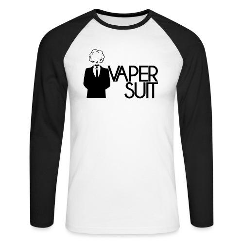 VAPER SUIT - Koszulka męska bejsbolowa z długim rękawem