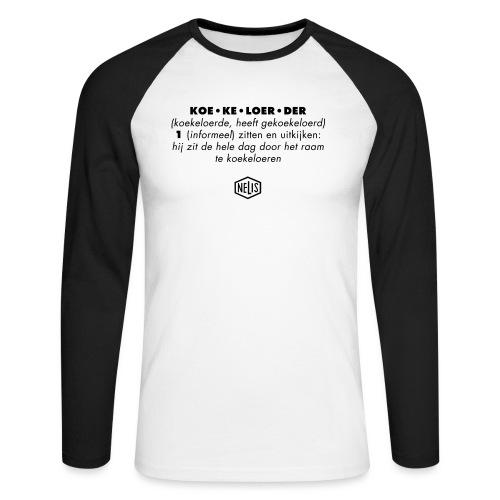 beschr_koek'lrdr - Mannen baseballshirt lange mouw