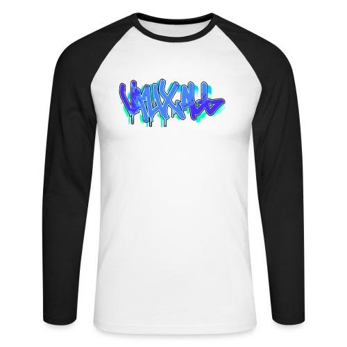 Graffiti | BLUE - Men's Long Sleeve Baseball T-Shirt
