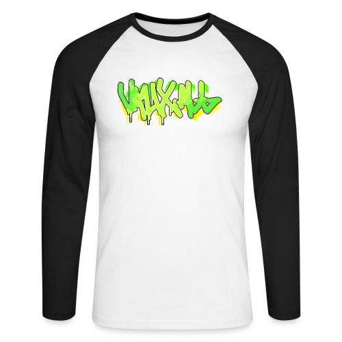 Graffiti | GREEN - Men's Long Sleeve Baseball T-Shirt