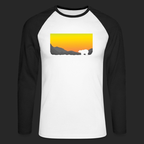 Sunrise Polar Bear - Men's Long Sleeve Baseball T-Shirt