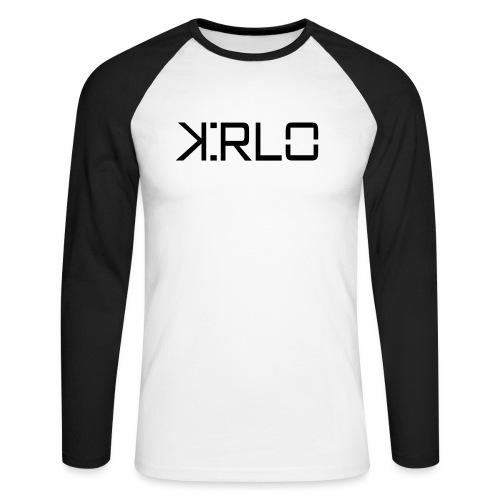 Kirlo Logotipo Negro - Raglán manga larga hombre