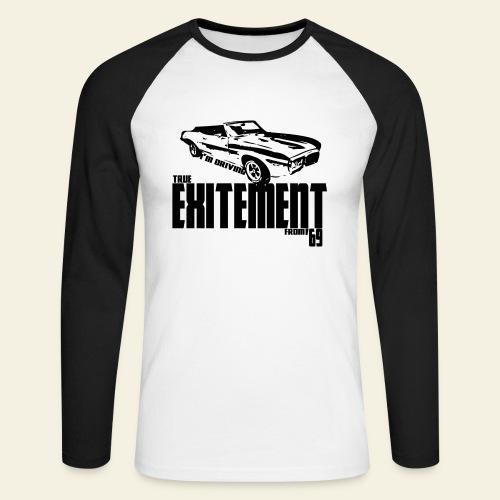 firebird - Langærmet herre-baseballshirt