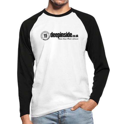 15 years anniversary logo black - Men's Long Sleeve Baseball T-Shirt