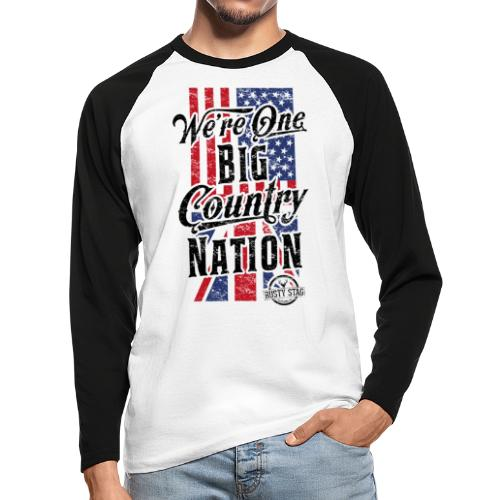 Country Nation - Men's Long Sleeve Baseball T-Shirt