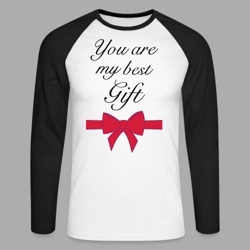 you are my best gift - Men's Long Sleeve Baseball T-Shirt