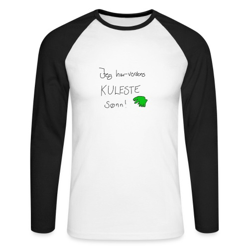 Kul sønn - Langermet baseball-skjorte for menn