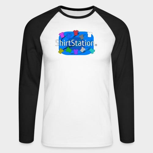ShirtStation - Men's Long Sleeve Baseball T-Shirt