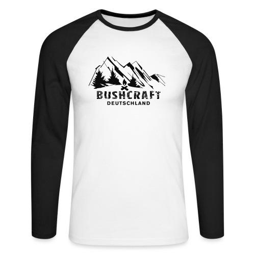 Bushcraft_1_black - Männer Baseballshirt langarm