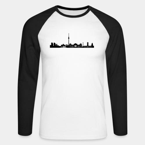 Berlin Skyline - Männer Baseballshirt langarm