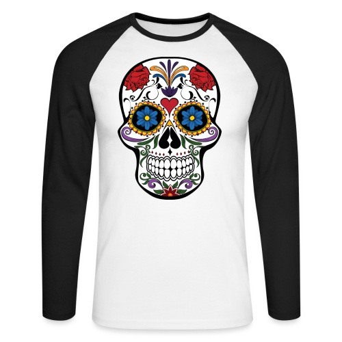 skull catrina - Raglán manga larga hombre