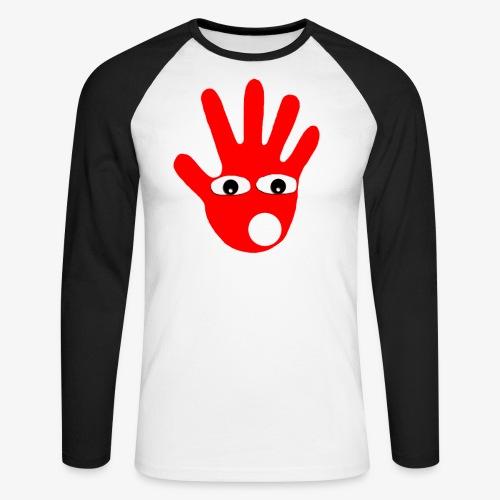 Hände mit Augen - T-shirt baseball manches longues Homme