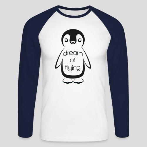 Dream of Flying Pinguin - Men's Long Sleeve Baseball T-Shirt