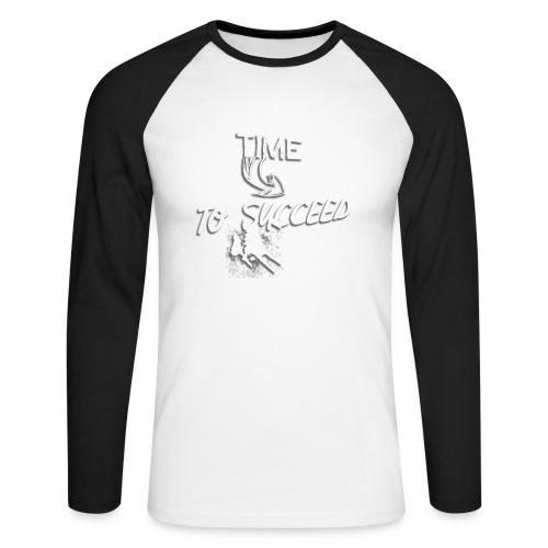 Het tijd - Mannen baseballshirt lange mouw