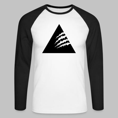 3CLAW-Black - Männer Baseballshirt langarm
