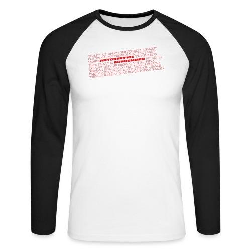 TEXT ROT - Männer Baseballshirt langarm