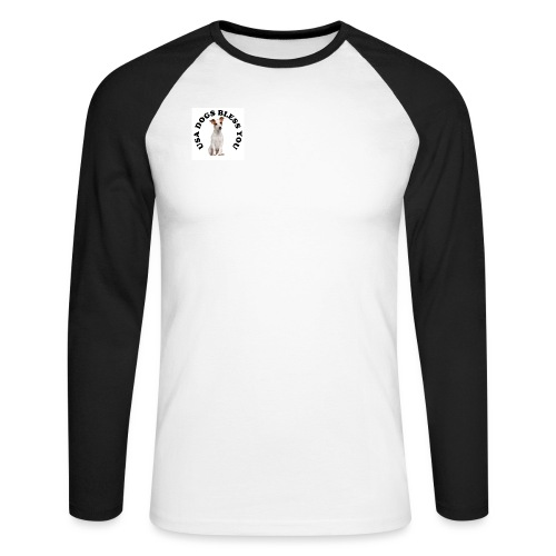 usadogsLOGO2 - Men's Long Sleeve Baseball T-Shirt