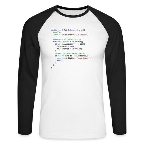 Love seen by a C# programmer - Maglia da baseball a manica lunga da uomo