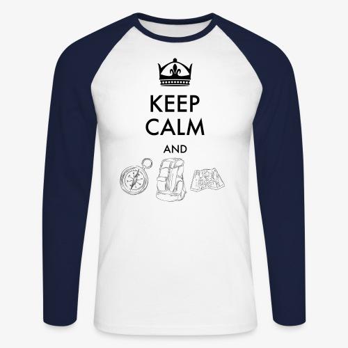 keepcalmandexplore - Men's Long Sleeve Baseball T-Shirt