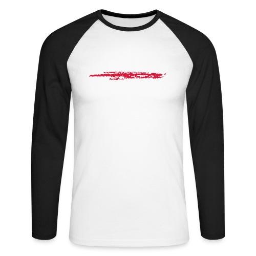 Linie_02 - Männer Baseballshirt langarm