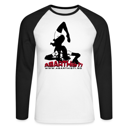 Abarthisti Pinup - Langermet baseball-skjorte for menn