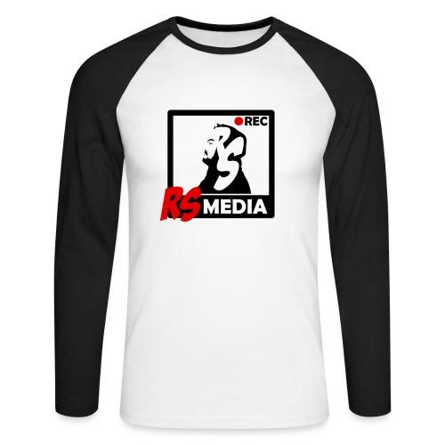 RS Media Logo - Männer Baseballshirt langarm