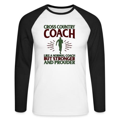 Cross Country Coach Gift Cross Country Coach Like - Men's Long Sleeve Baseball T-Shirt