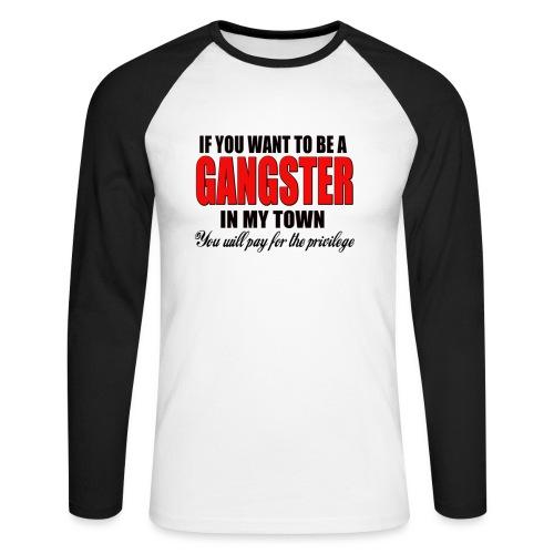 ville gangster - T-shirt baseball manches longues Homme