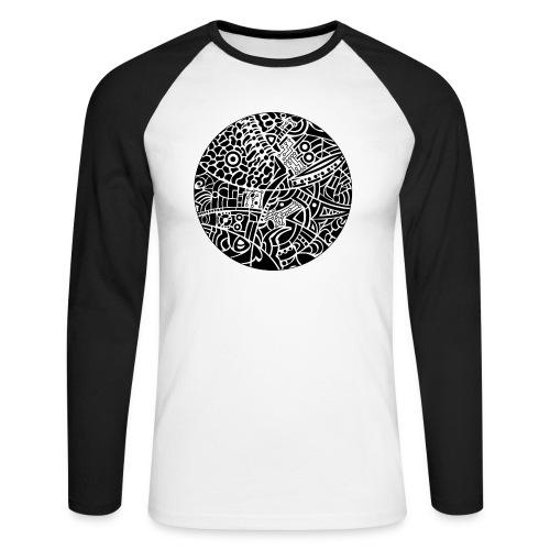 GlobeDesign-BW - Langærmet herre-baseballshirt