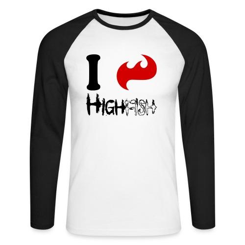 ixHhighfish black - Männer Baseballshirt langarm