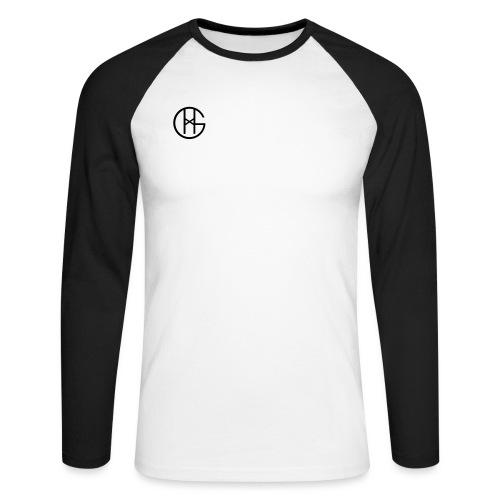 Hookgrip logo black - Langermet baseball-skjorte for menn