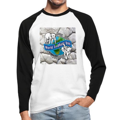 World Elephant Day 2020 - Männer Baseballshirt langarm