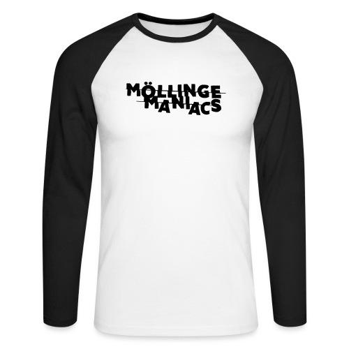 Möllinge Maniacs svart logga - Långärmad basebolltröja herr