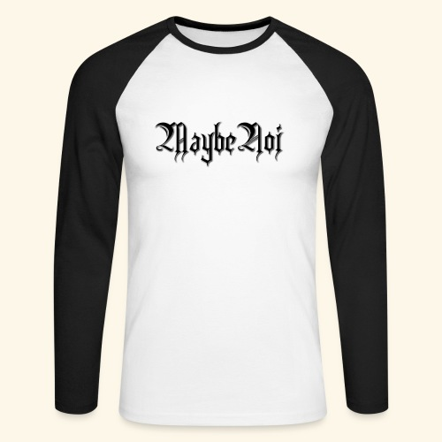 MaybeNoi Design - Männer Baseballshirt langarm