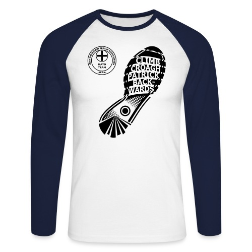Climb Croagh Patrick Back - Men's Long Sleeve Baseball T-Shirt