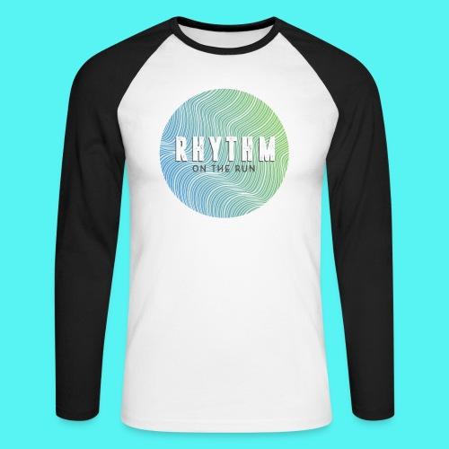 Rhythm On The Run Logo - Men's Long Sleeve Baseball T-Shirt