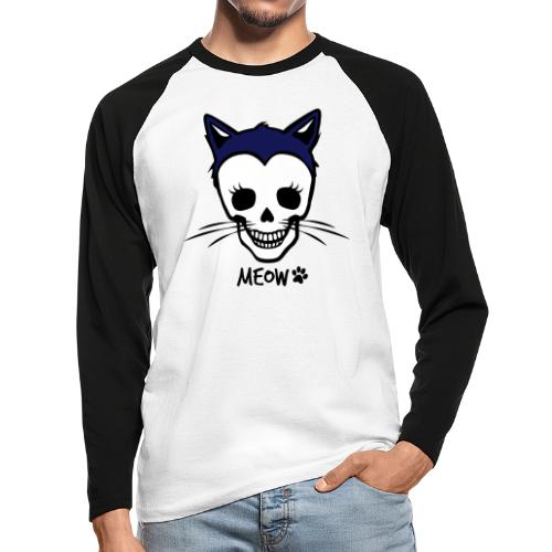 Katzenliebe für immer - Männer Baseballshirt langarm