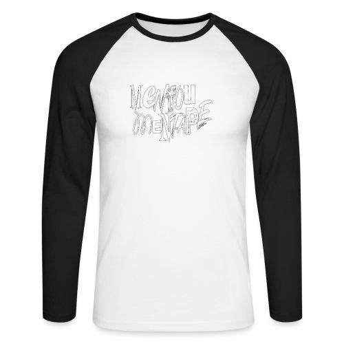 MENFOUMENTAPE blanc et noir by Alice Kara - T-shirt baseball manches longues Homme