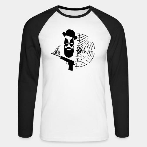 POOL_01 - Koszulka męska bejsbolowa z długim rękawem