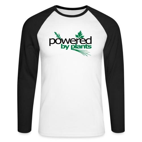POWERED BY PLANTS - Männer Baseballshirt langarm