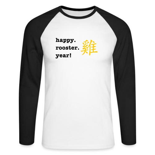 happy rooster year - Men's Long Sleeve Baseball T-Shirt