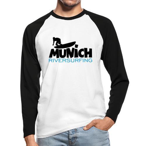 Munich Riversurfing München Surfer - Männer Baseballshirt langarm