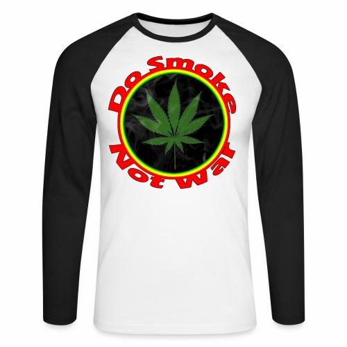Do Smoke Not War - Männer Baseballshirt langarm