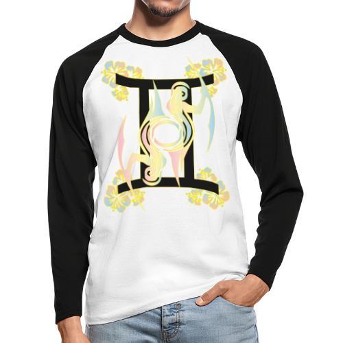 Twin Design - Männer Baseballshirt langarm