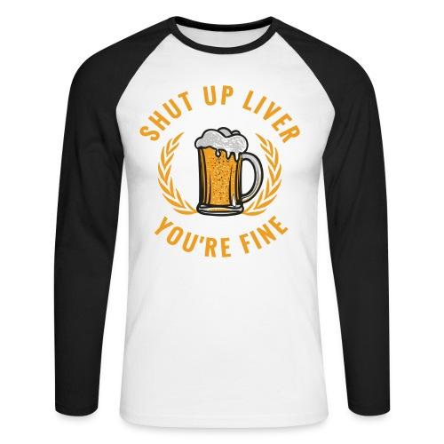 Beer Design - Miesten pitkähihainen baseballpaita